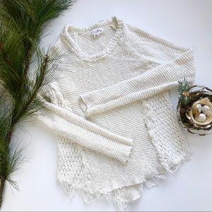 Shrinking Violet Boho Distressed Sweater